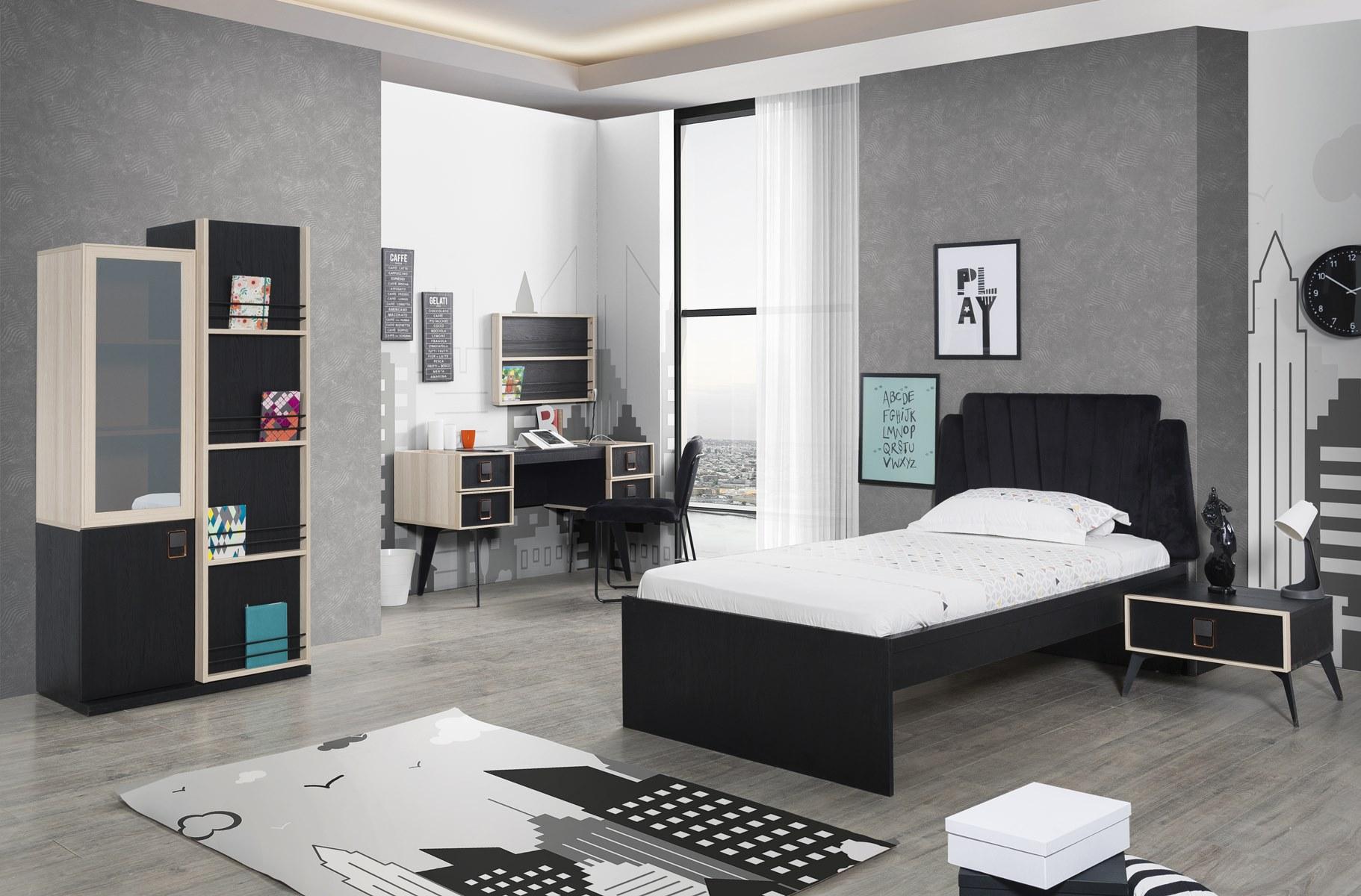 Titi Jugendzimmer komplett Lotus mit Bett 100x200 cm