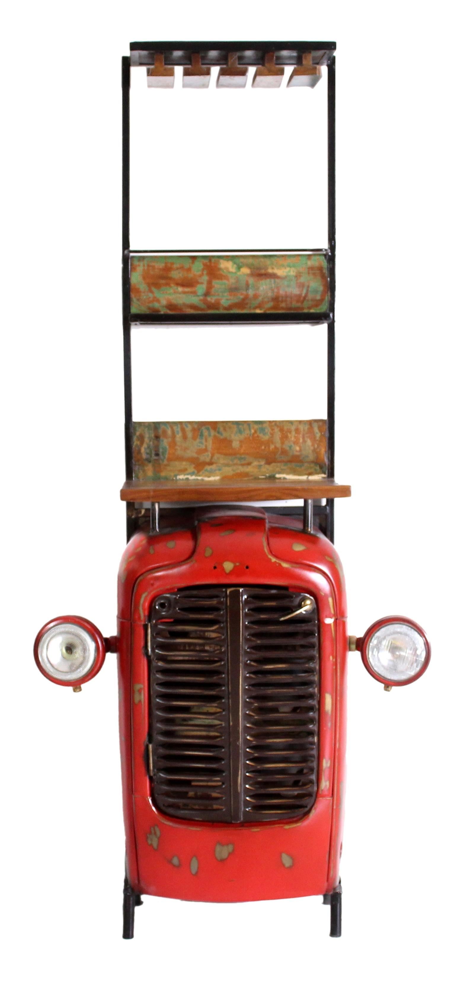 Barschrank Traktor Metall Rot Sit Diverse