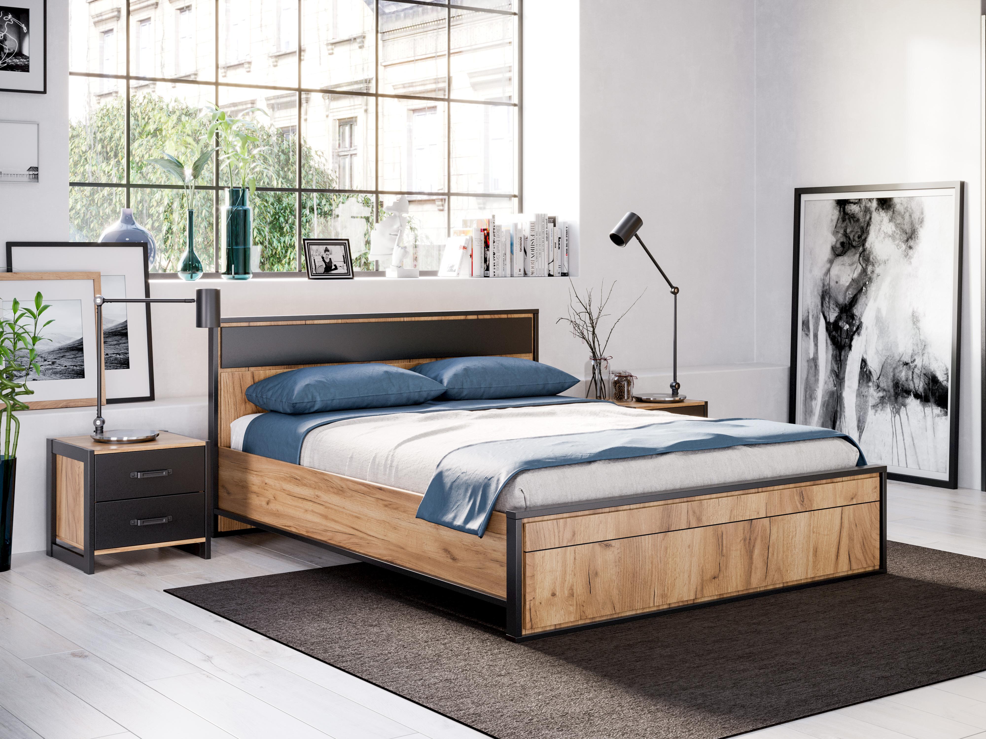 Lubidom Schlafzimmer Set Techno 5-teilig in Eiche