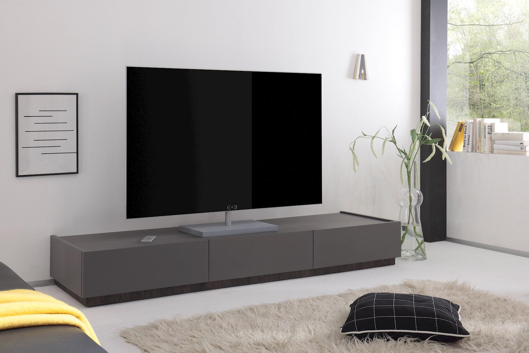 TV-Lowboard Bloom in Anthrazit-wenge