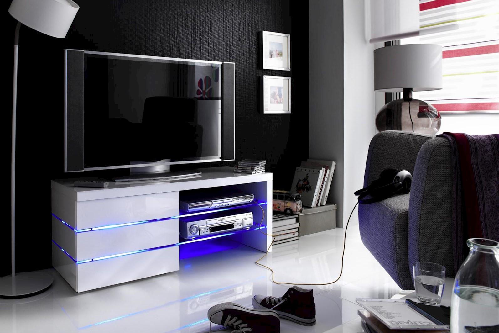 TV-Media Sonja mit LED weiss Hochglanz