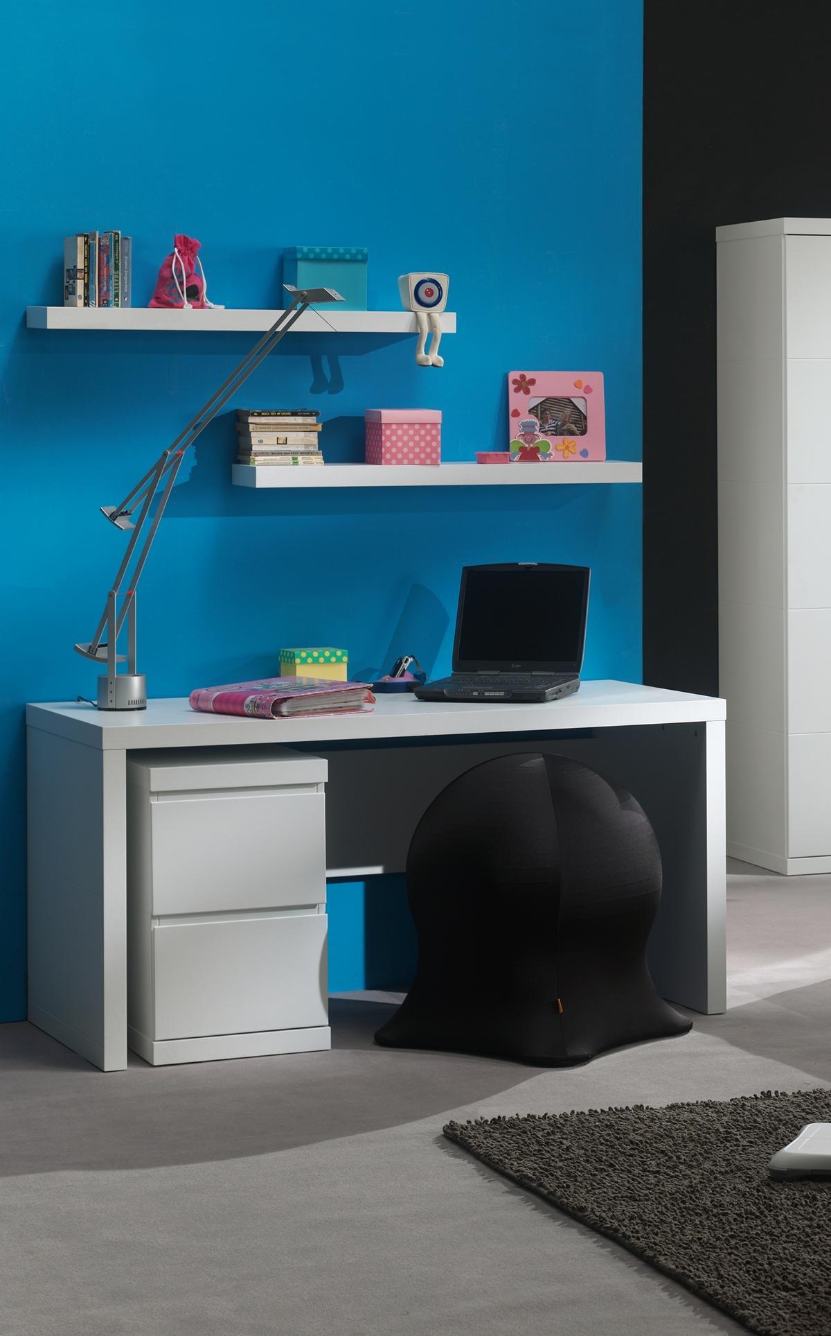 Schreibtisch Saana in Weiß