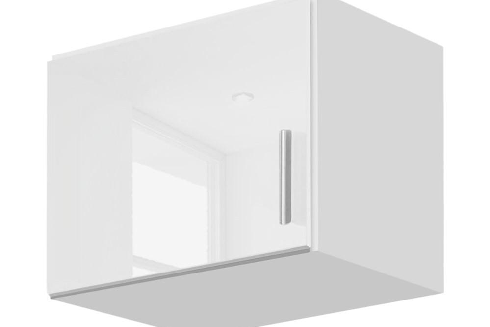 Schrankaufsatz CELLE weiß / alpinweiß 47 x 39 x 54 cm links