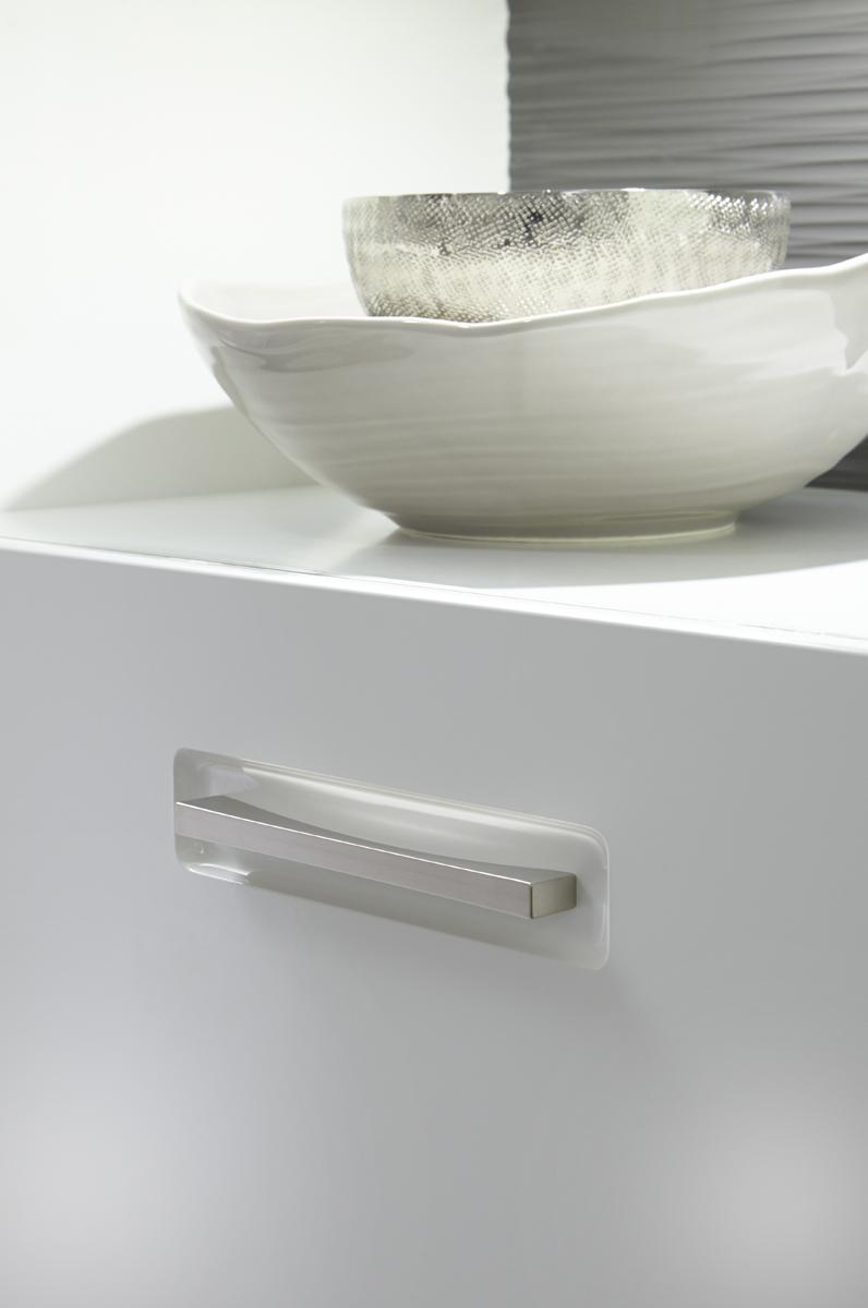 Sideboard Fillipe 3-türig in Weiß Hochglanz
