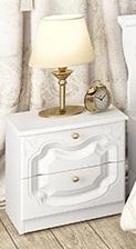 Orchidea Schlafzimmerset 4-teilig Weiß Seidenmatt