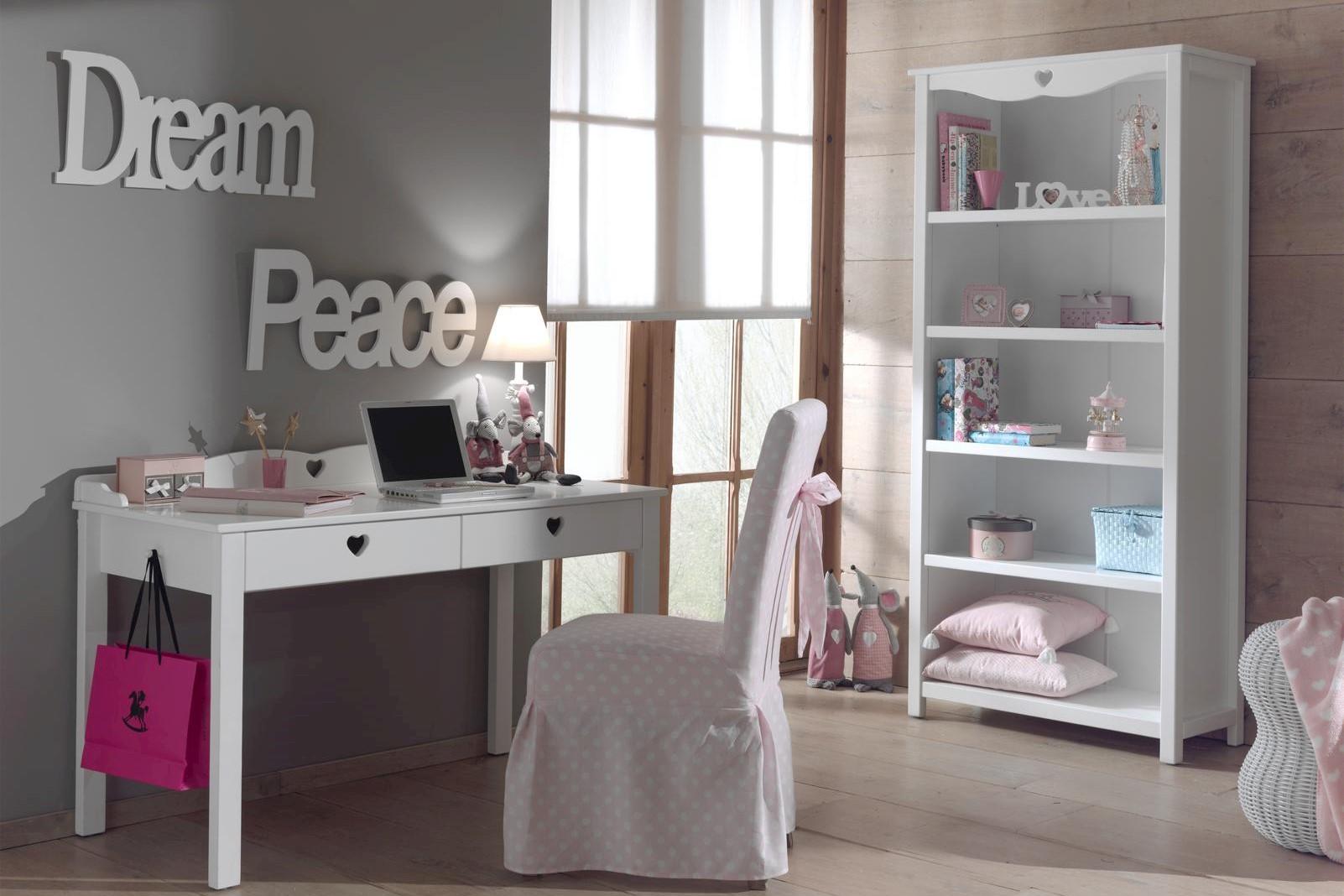 Schreibtisch Set Albin 2-teilig in Weiß MDF