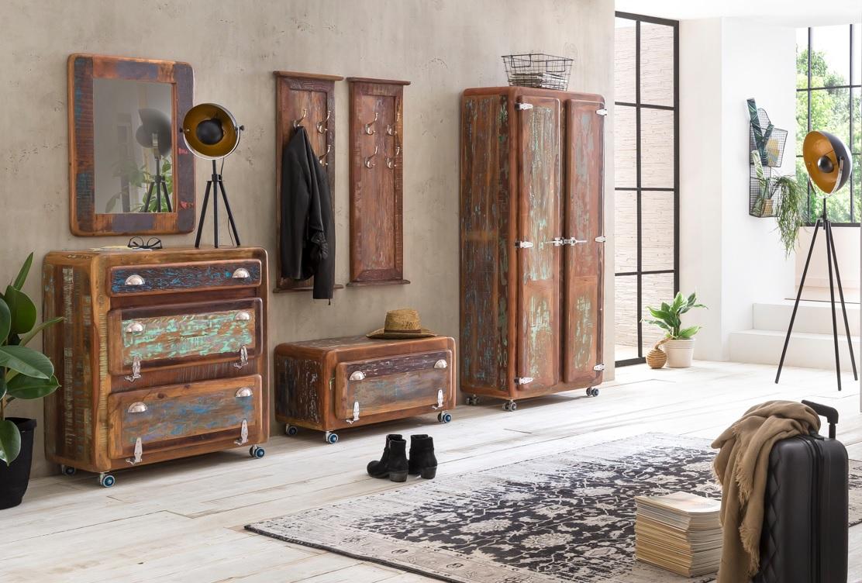 Sit Fridge Garderoben Set 6-teilig aus Altholz