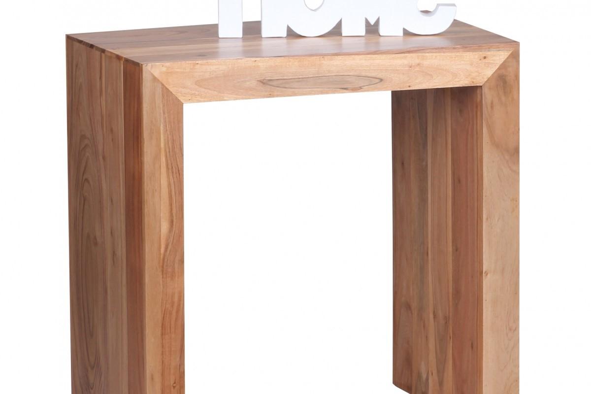 Massivholz Beistelltisch 60 x 35 x 60 cm Akazie