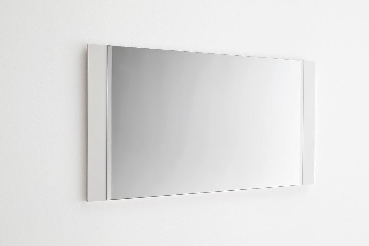 Wandspiegel Aila in der Farbe Weiß Hochglanz lackiert