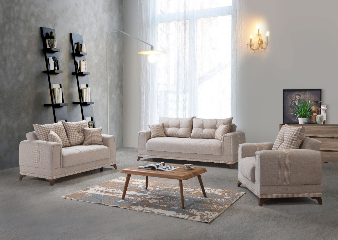 Windy Couch Garnitur Okyanus mit Stauraum Beige
