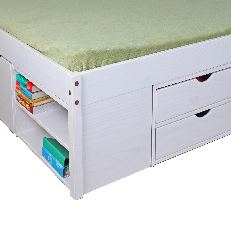 Celeste Multifunktionsbett Kiefer Weiß 140x200