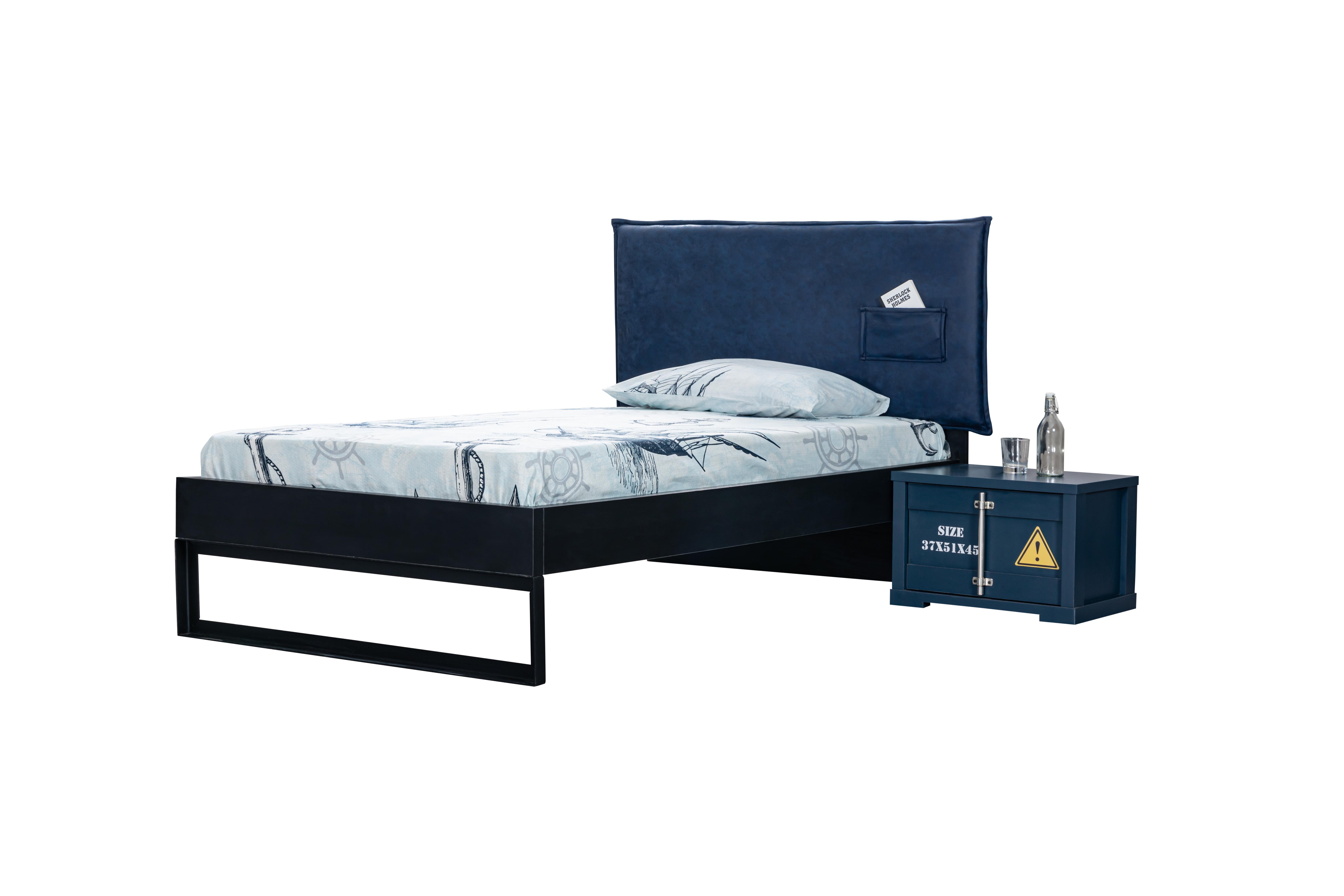 Odacixi Jugendbett Container mit Nachtkommode