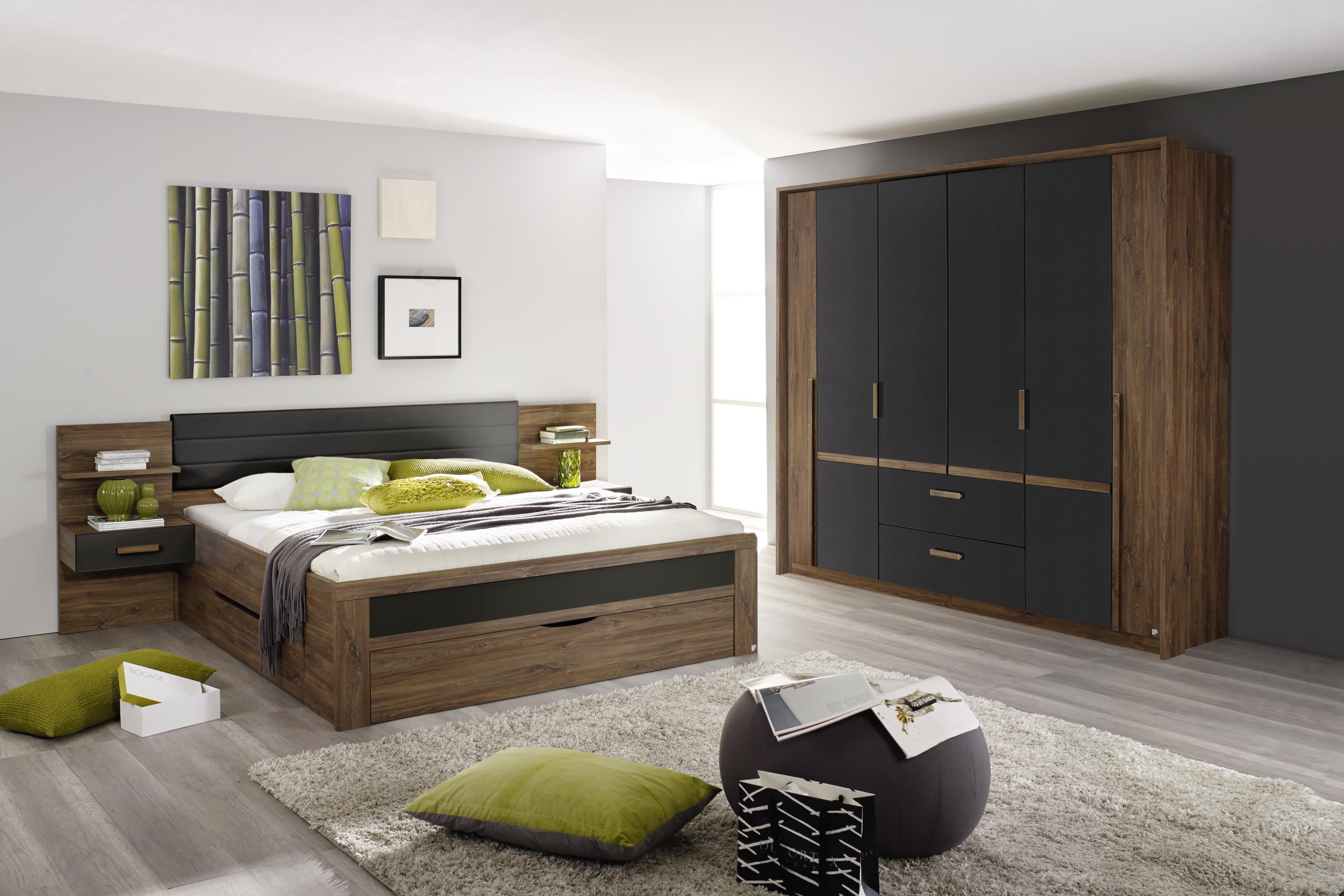 Schlafzimmer Eiche Stirling Grau Bernau 2-teilig