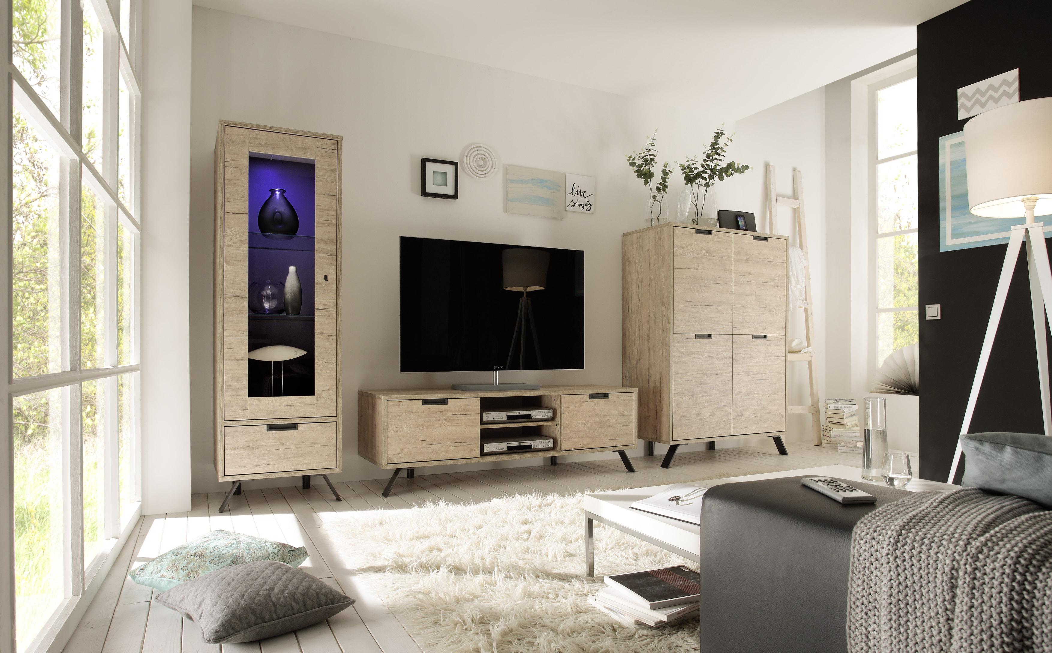 TV Unterschrank in Eiche Jonson 2-türig