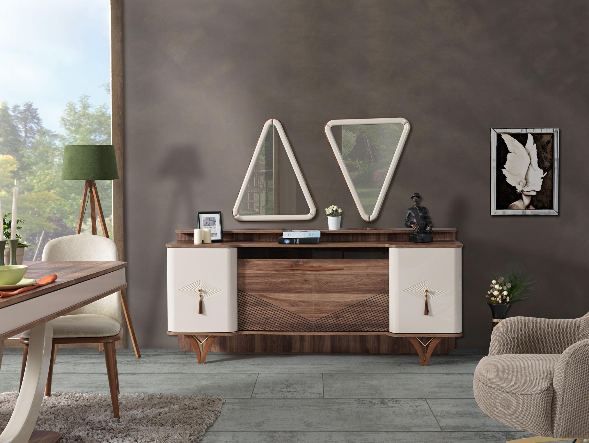 Lidya Esszimmer Sideboard Panama mit Türen & Spiegel