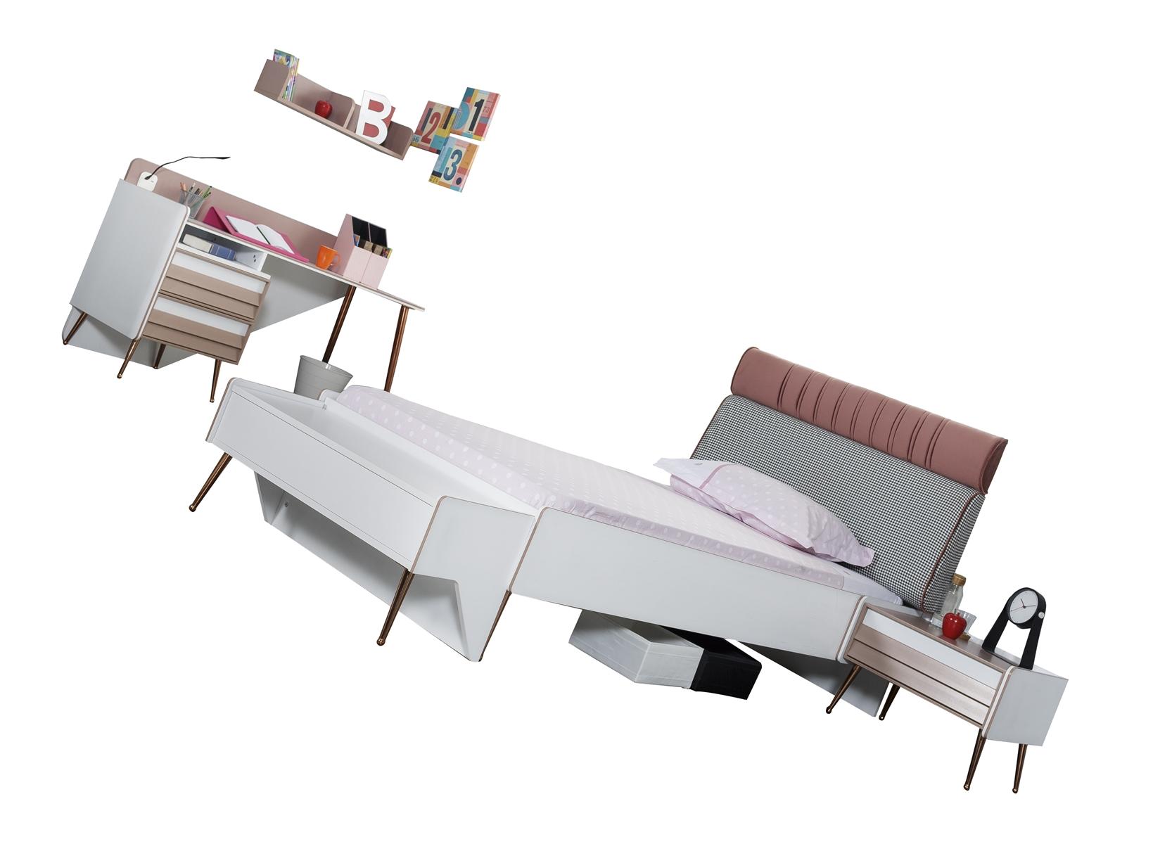 Titi Jugendzimmer Rosi komplett Set 4-teiligl Weiß