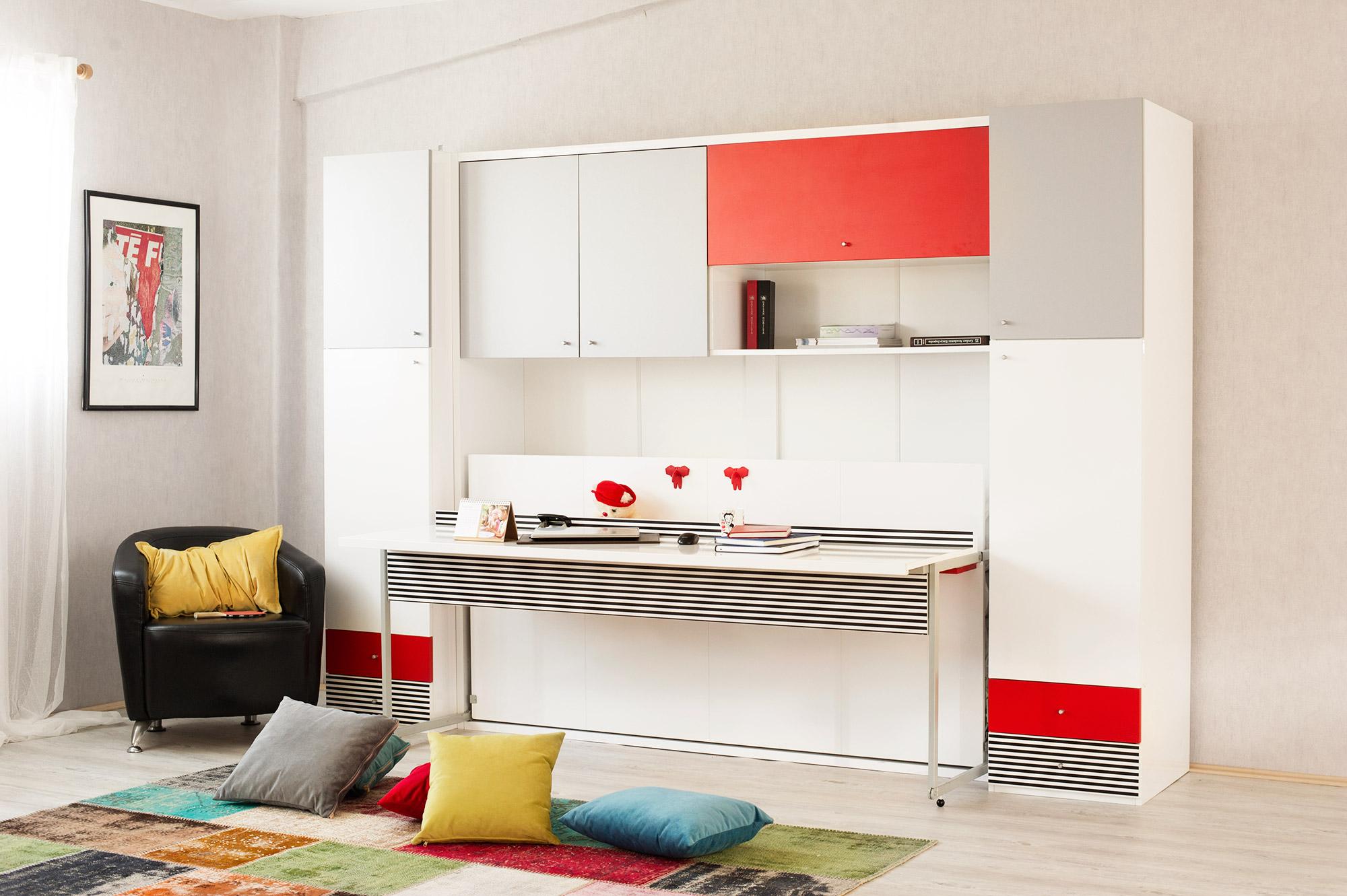 Multimo Wandbett Set mit Schreibtisch Nitro
