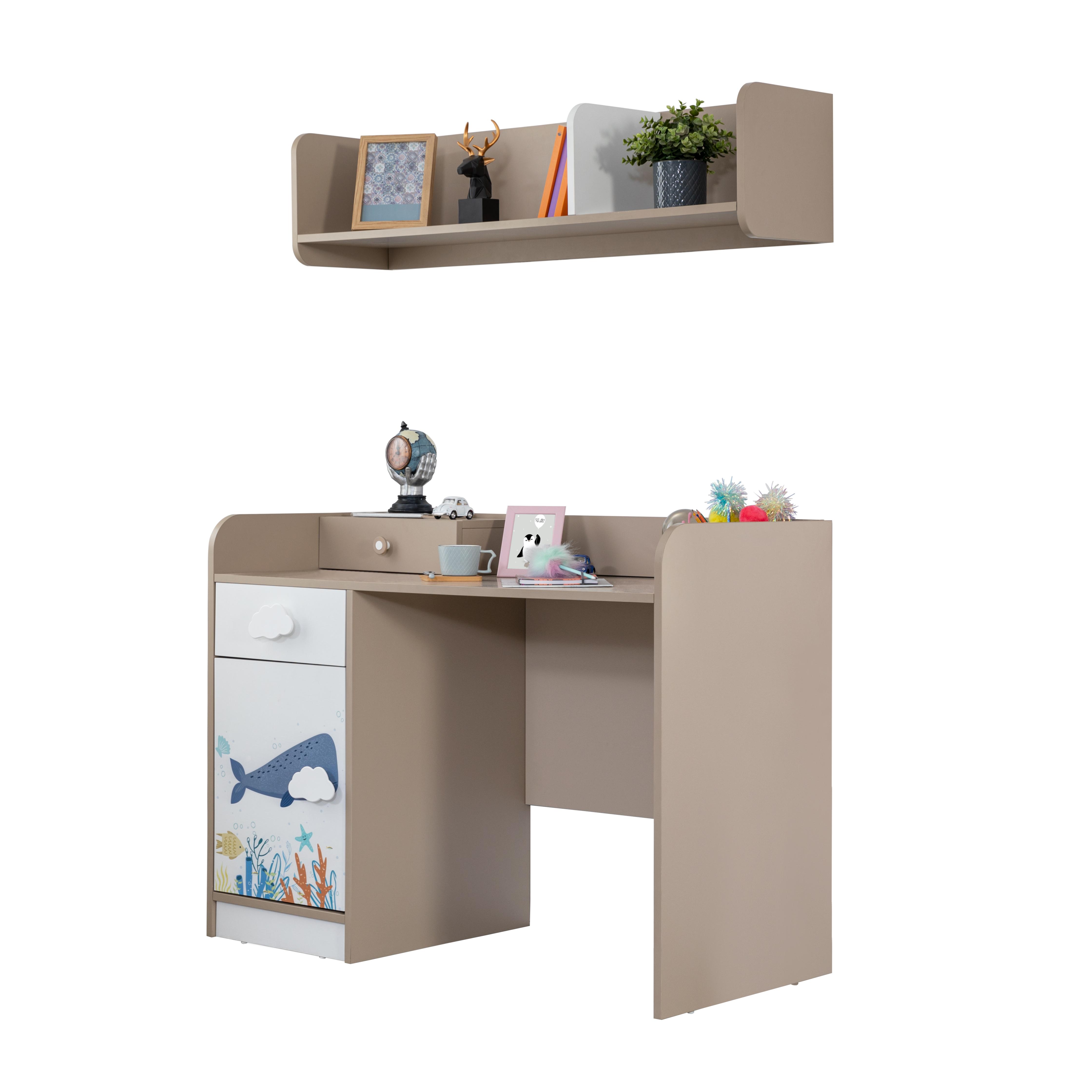 Titi Schreibtisch Ocean mit Wandregal