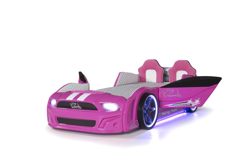 Autobett Must Rider 500 mit Türen in Pink Ausstellung