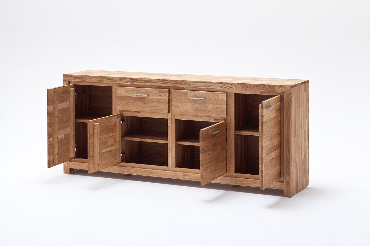 Sideboard Seppe 4-türig in Asteiche massiv
