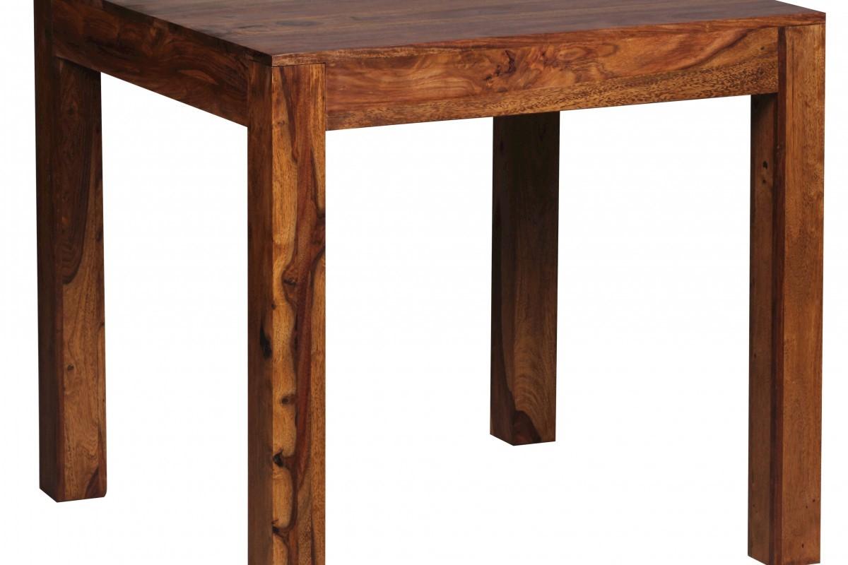 Design Esstisch quadratisch Massiv 80 x 80 cm Sheesham Massivholz