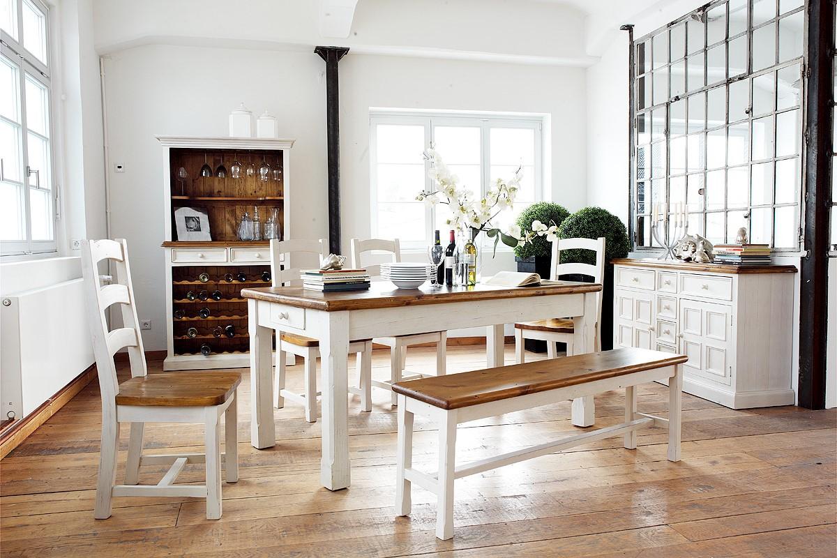 Bode Tisch 180x90 Landhausstil Kiefer massiv