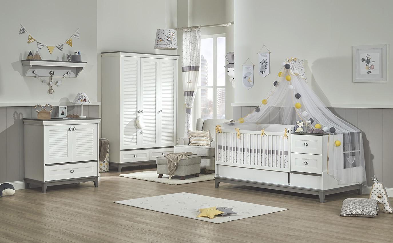 Almila Babyzimmer Mia mit vergrößerbarem Bett