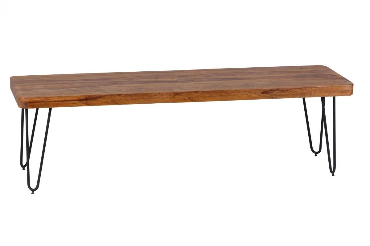 Massivholz Sheesham Sitzbank 180 x 40 x 45 cm
