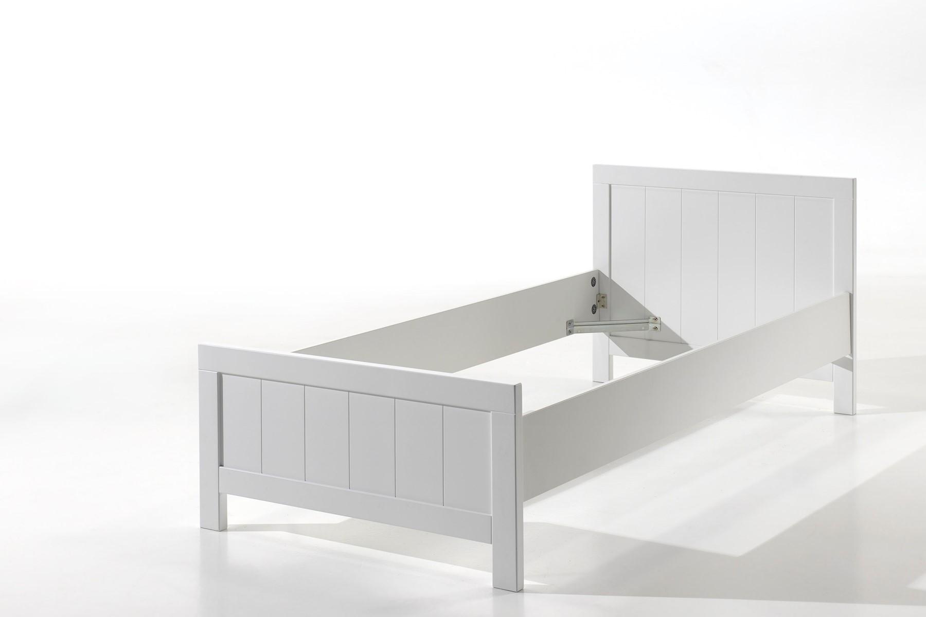 Richard Einzelbett 90x200 Weiß