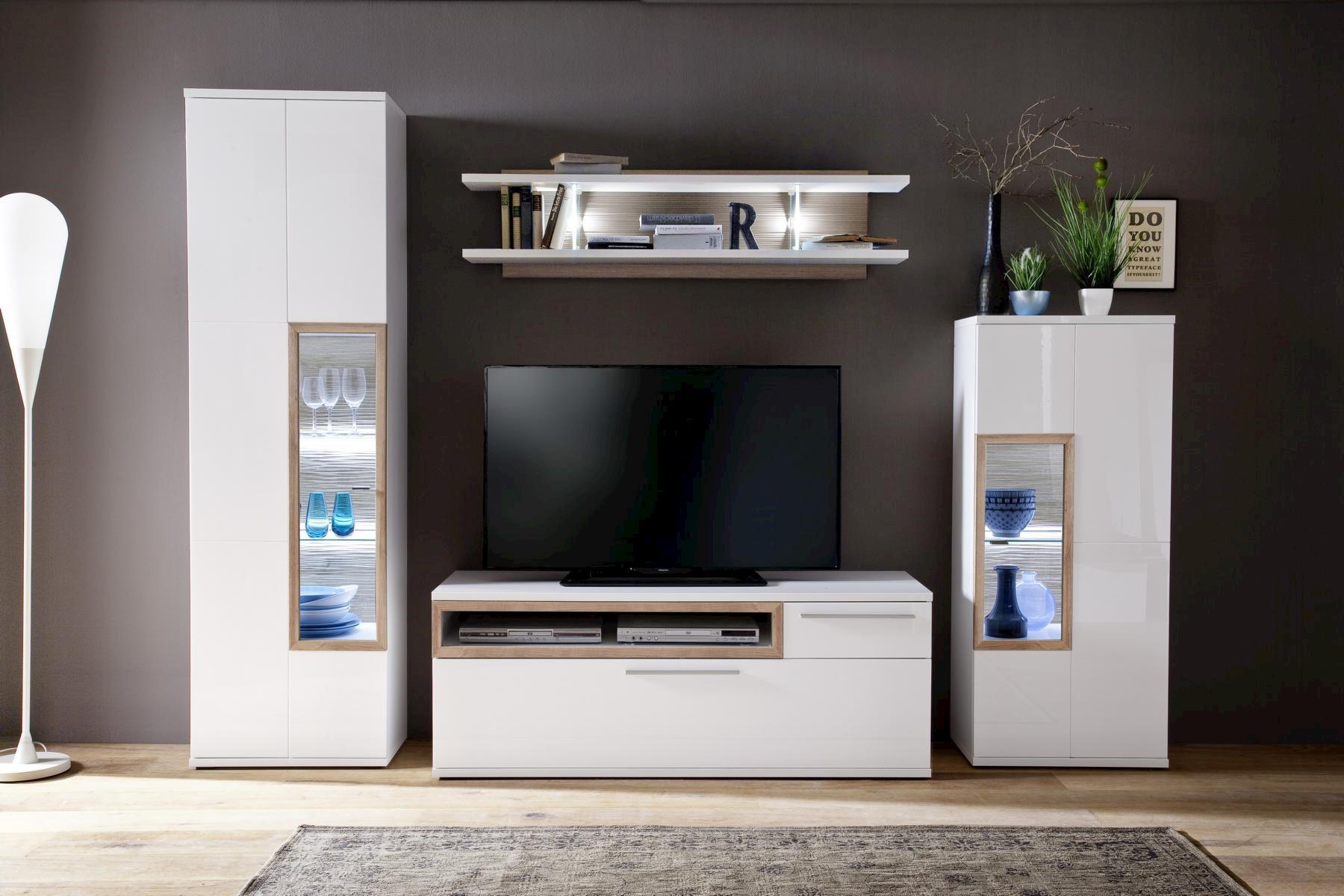 Pala Wohnwand I 4-teilig mit TV-Unterschrank Klein