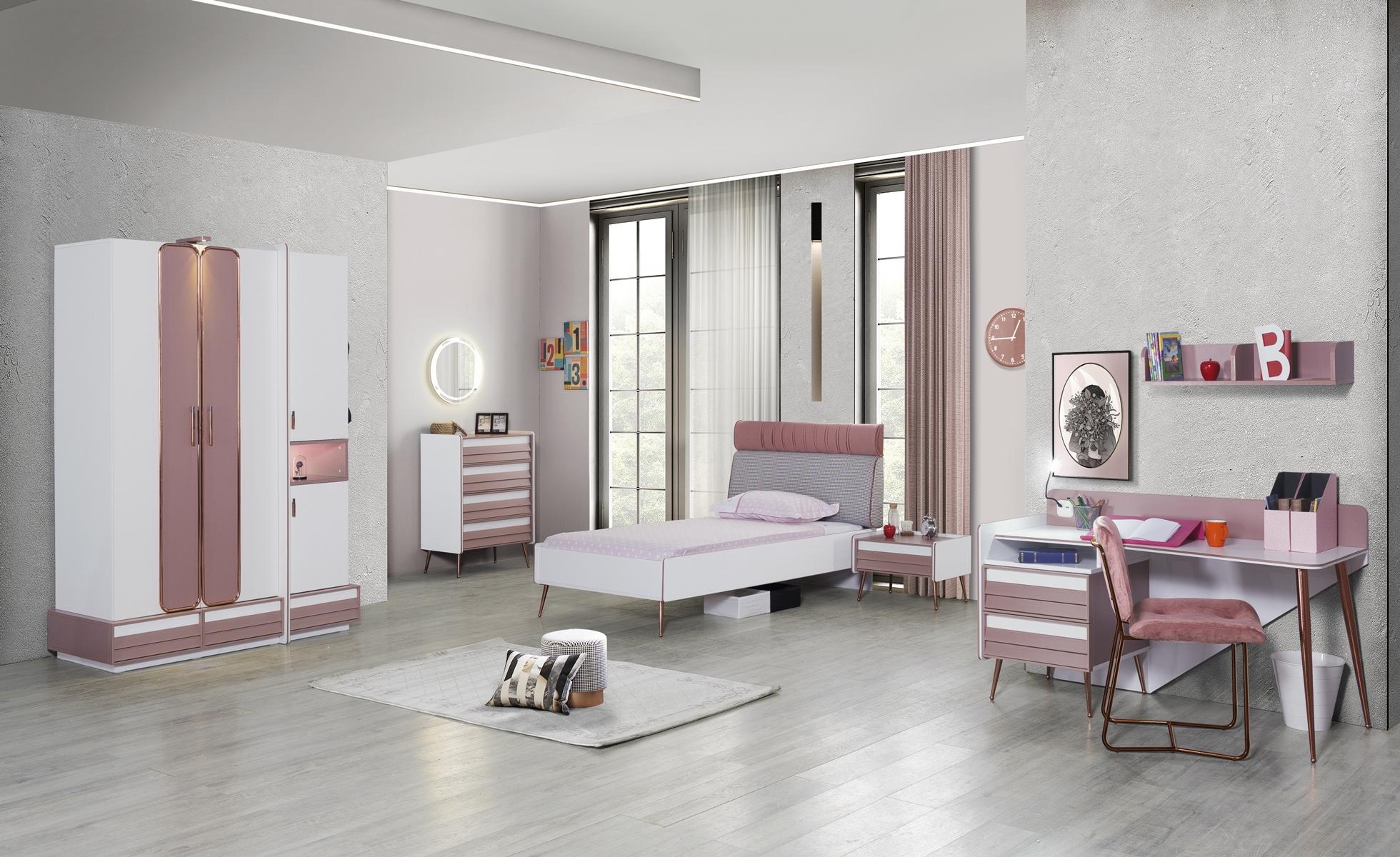Titi Jugendzimmer Rosi 6-teilig mit Jugendbett 100x200