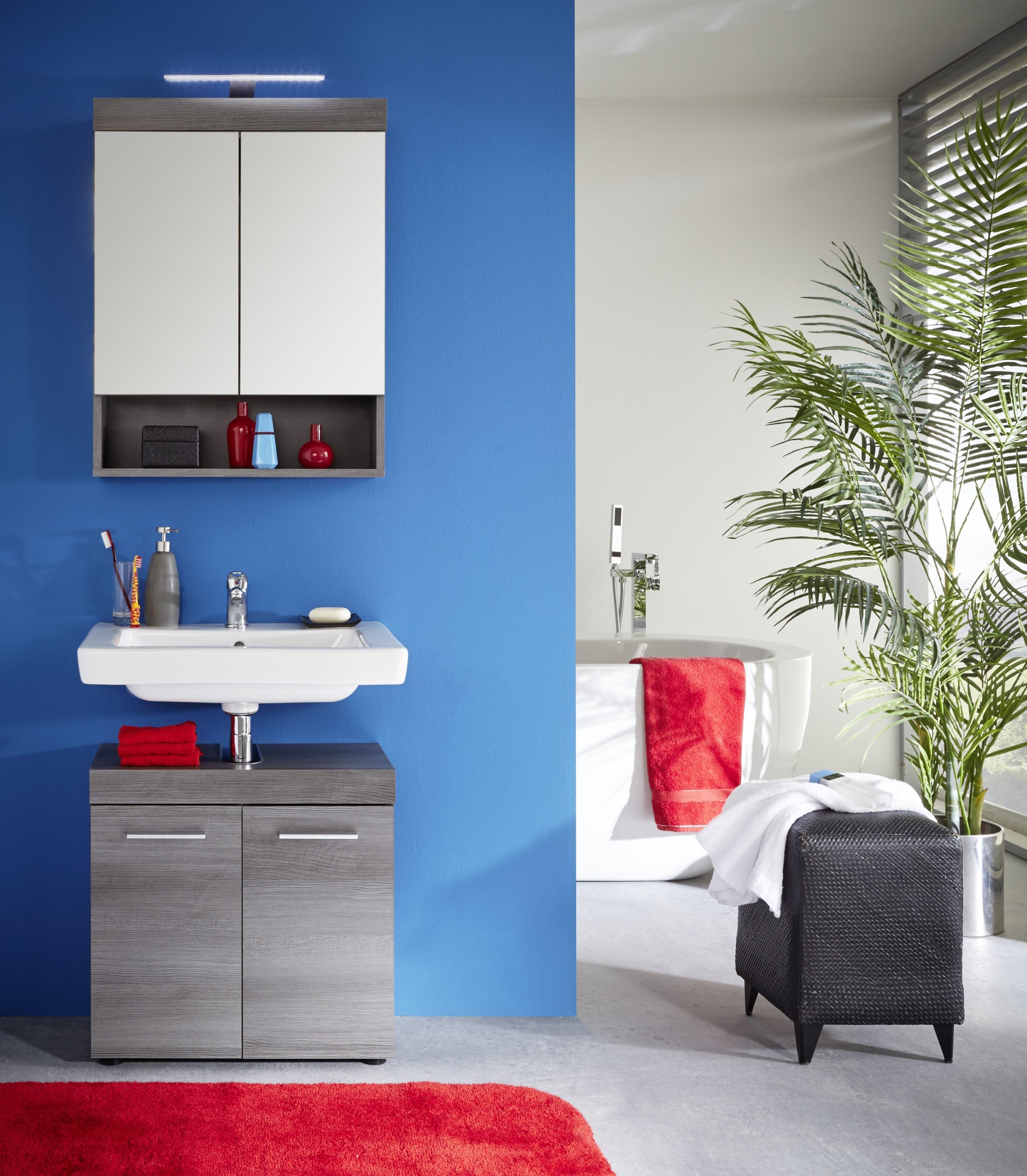 Badezimmer Set Della 2-teilig in Rauchsilber