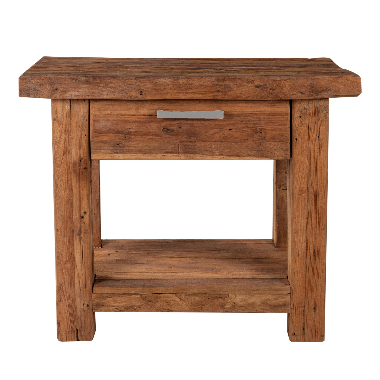 Sit Telefontisch aus recyceltem Teakholz Coral