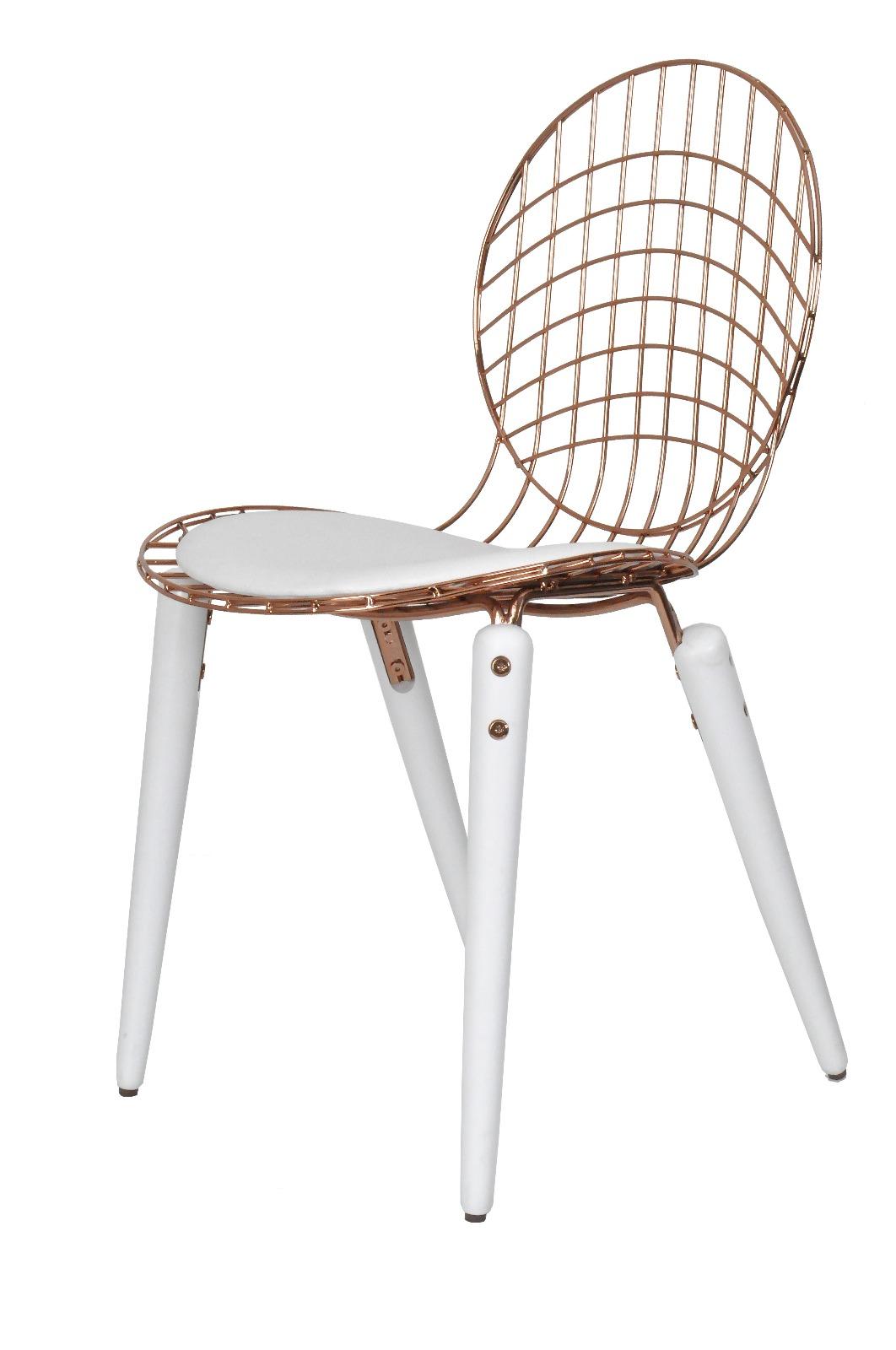 Almila Stuhl Bella Weiß Rosé in trendigem Design