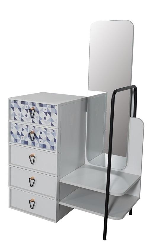 Titi Kommode Dynamic Spiegel und Garderobenstange