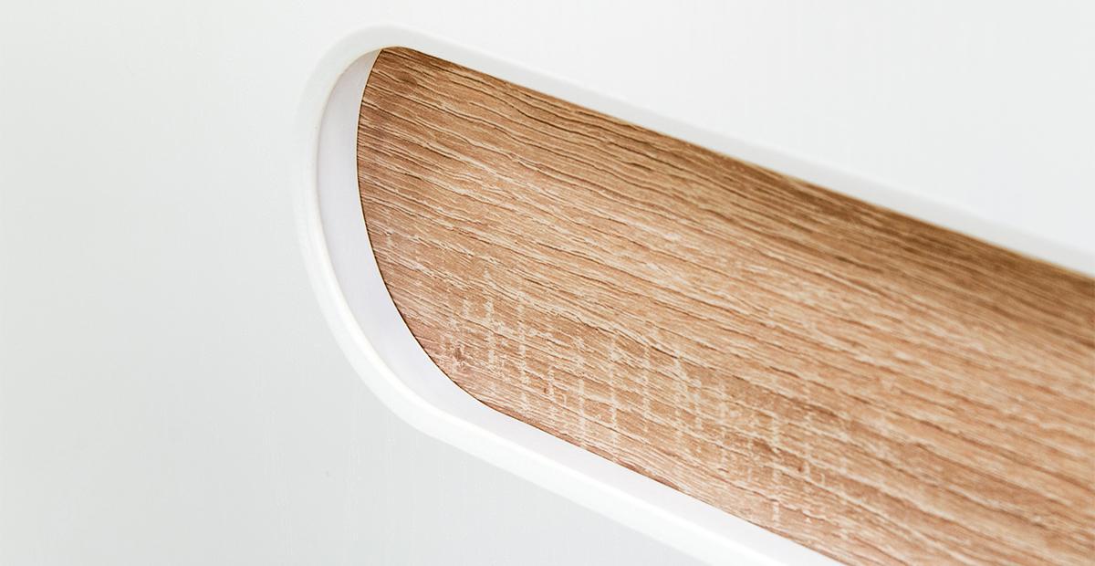 Schuhkommode in Eiche Weiß Leonardo 2-türig