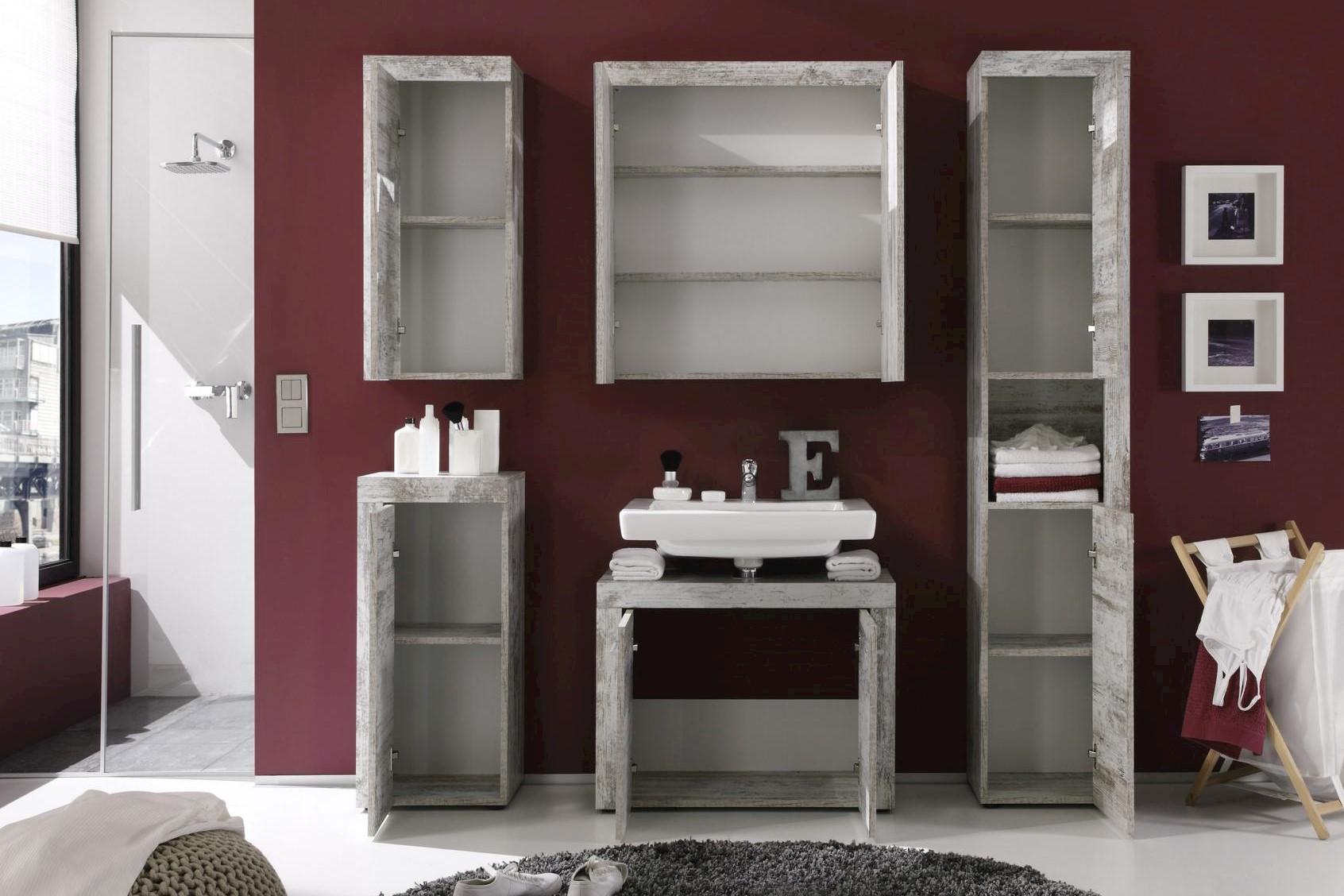 Badezimmer Set Embla 5-teilig in Pinie Optik