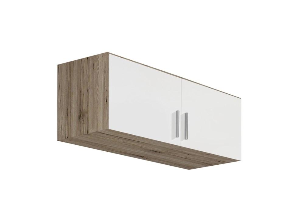 Schrankaufsatz CELLE weiß / Eiche Sanremo 91 x 39 x 54 cm