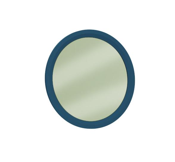 Almila Wandspiegel rund Elegant Blue 70x70 cm