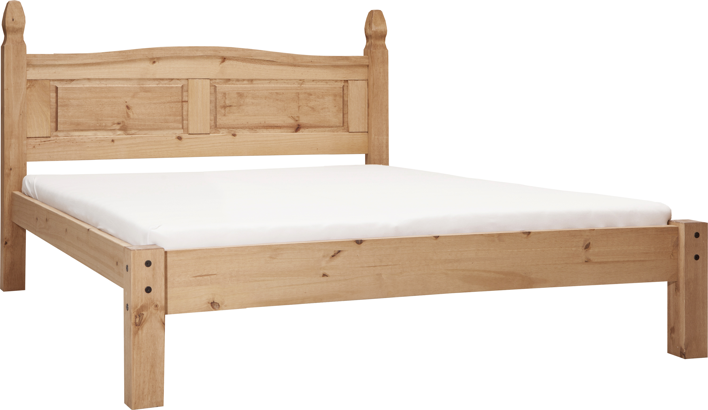 Sama Doppelbett Pinie massiv 140x200 Honig