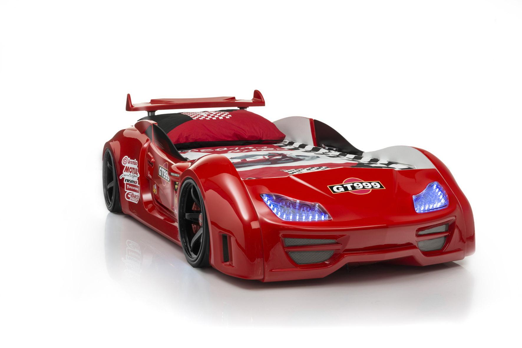 Autobett GT999 Medium Rot mit Spoiler Ausstellungsstück