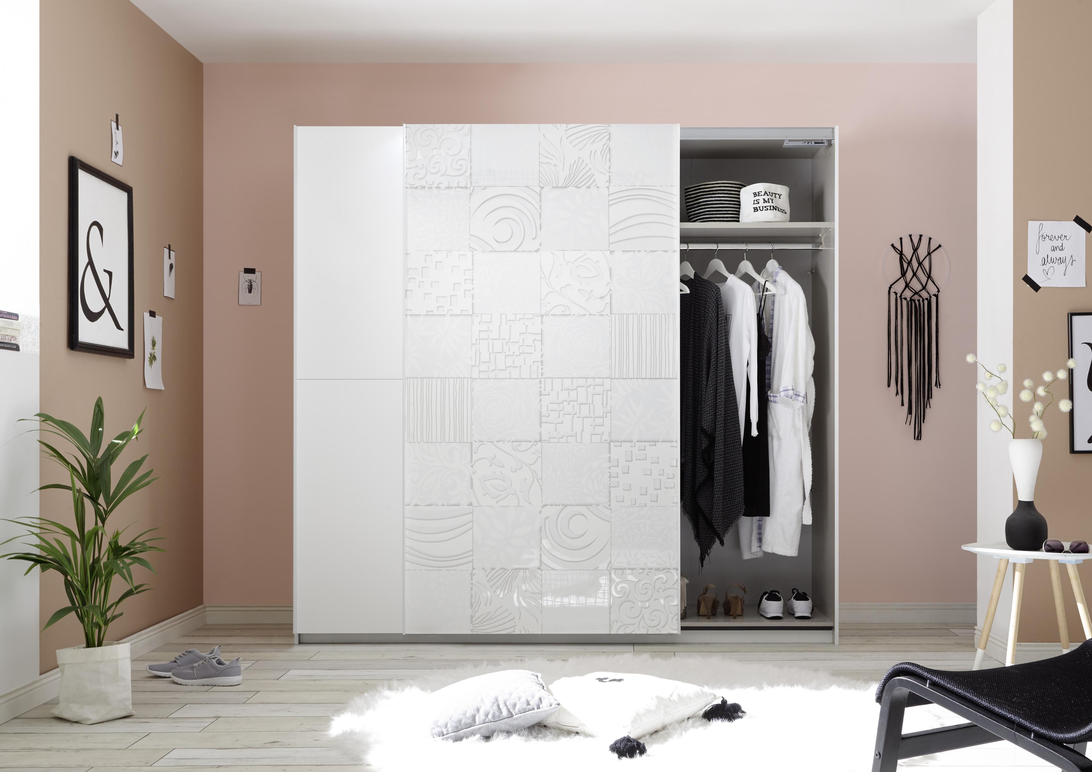Design Schwebetürenschrank Weiß Xena 220cm