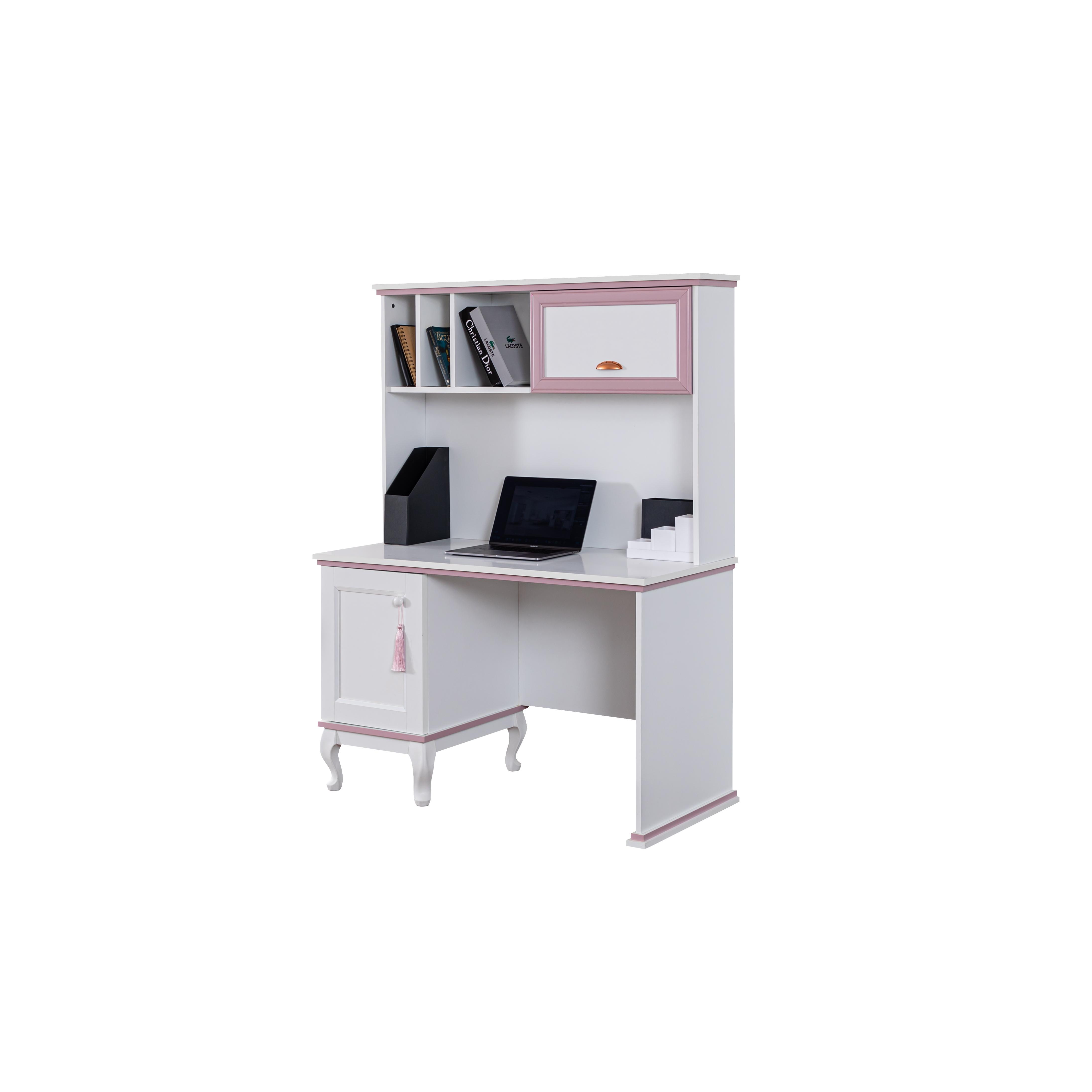 Odacix Schreibtisch Lilyum mit Aufsatz in Weiß Rosa