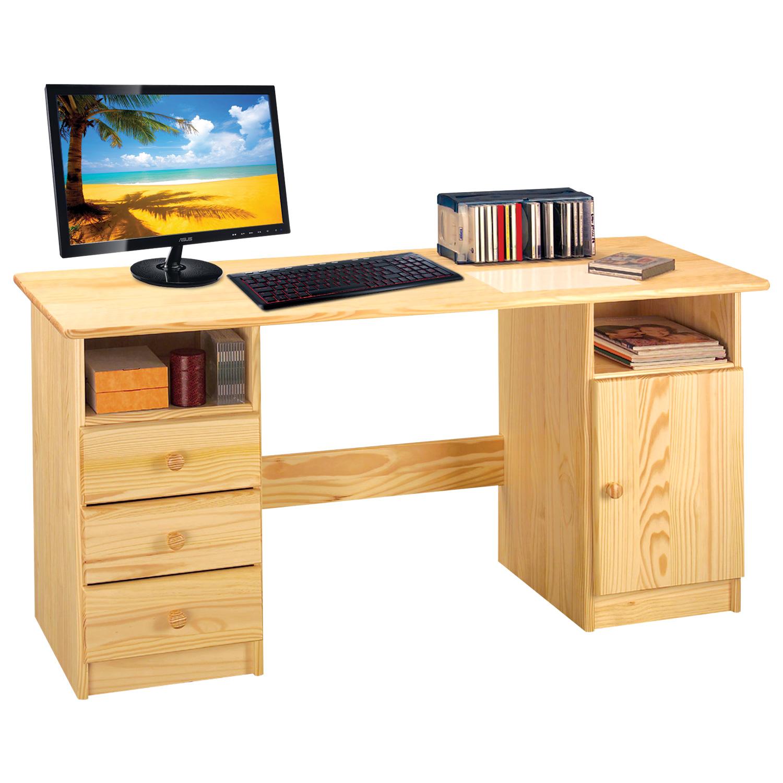 Tommy Schreibtisch 144x54 mit 3 Schubladen Kiefer