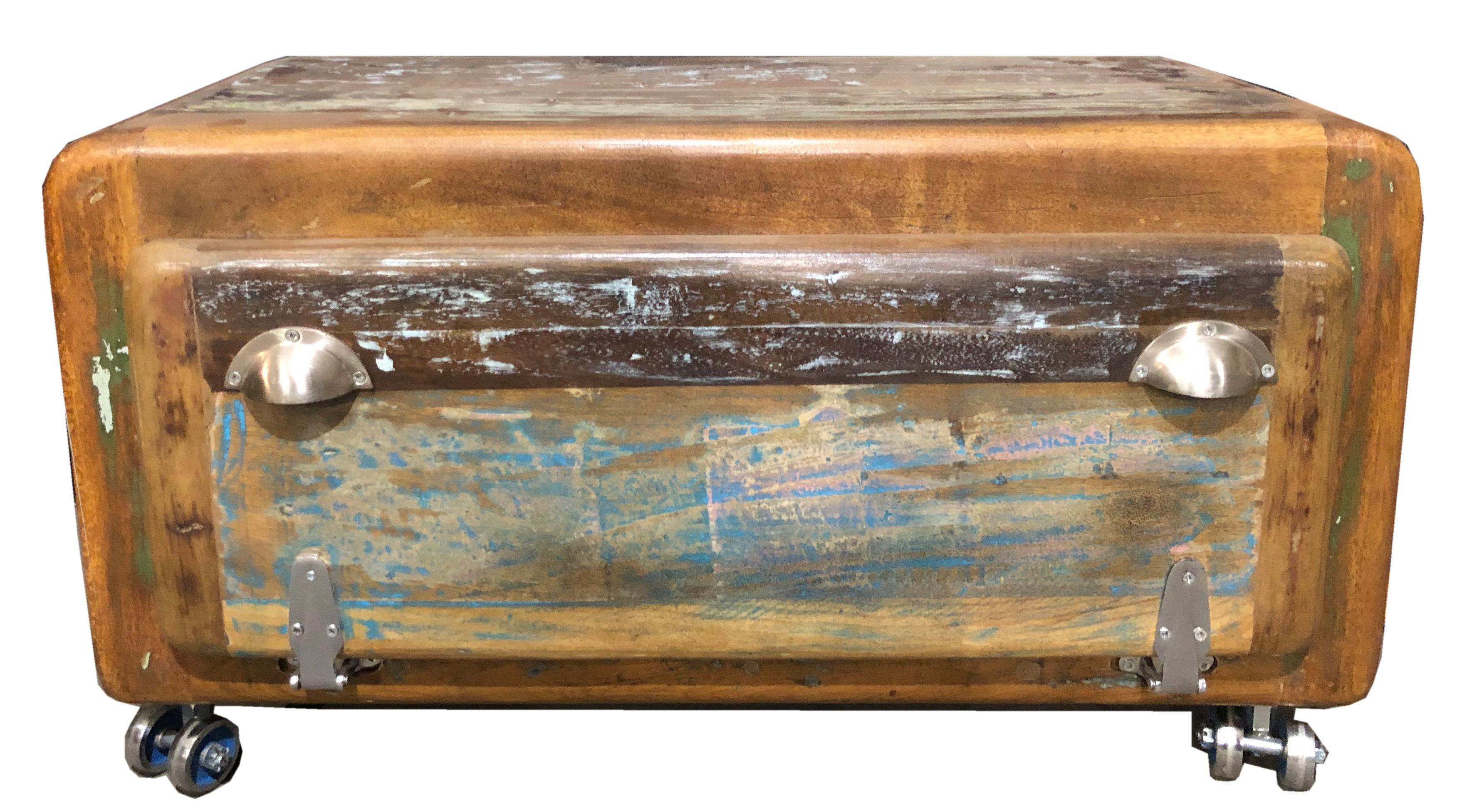 Sit Fridge Schuhbank aus buntem Altholz