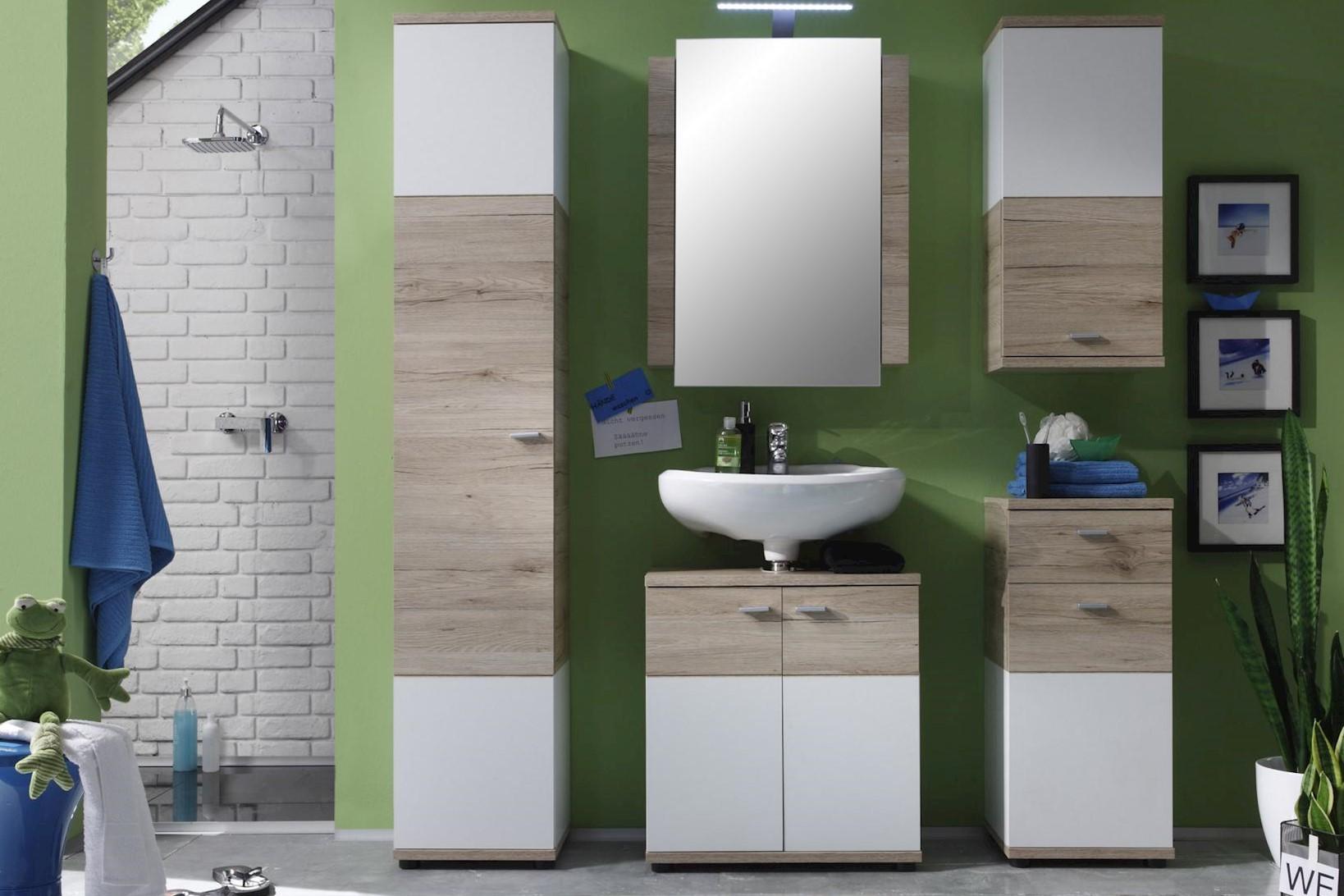 Badezimmer Set Rikke 5-teilig in Eiche San Remo
