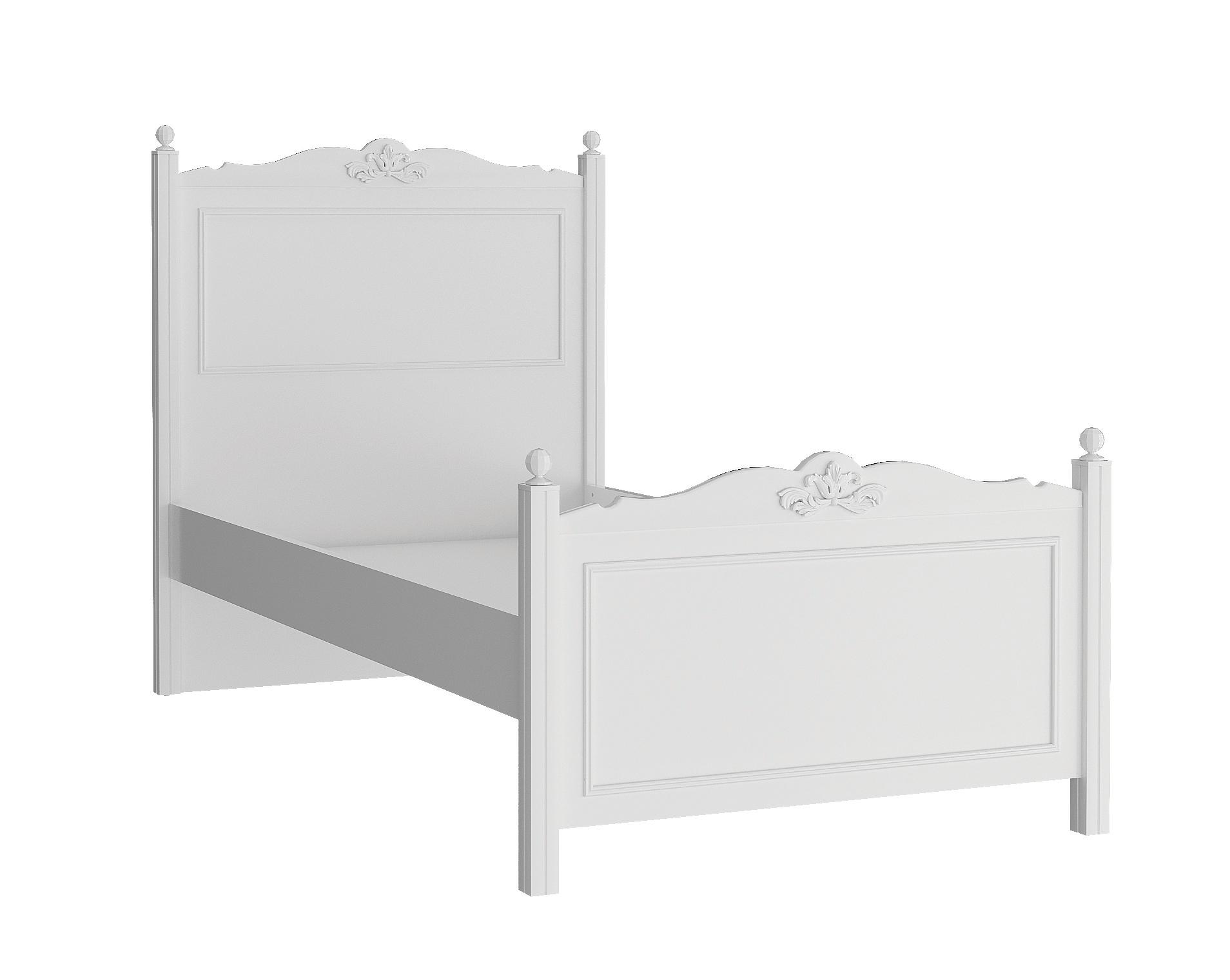 Almila Jugendbett Lory in Weiß 100x200 cm
