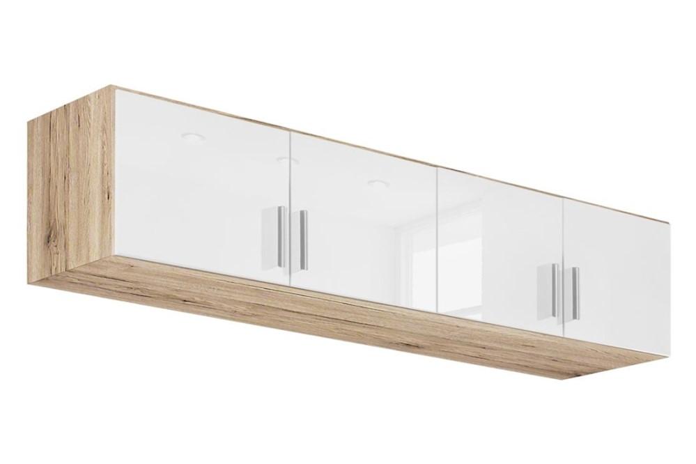 Schrankaufsatz CELLE weiß / Eiche Sonoma 181 x 39 x 54 cm