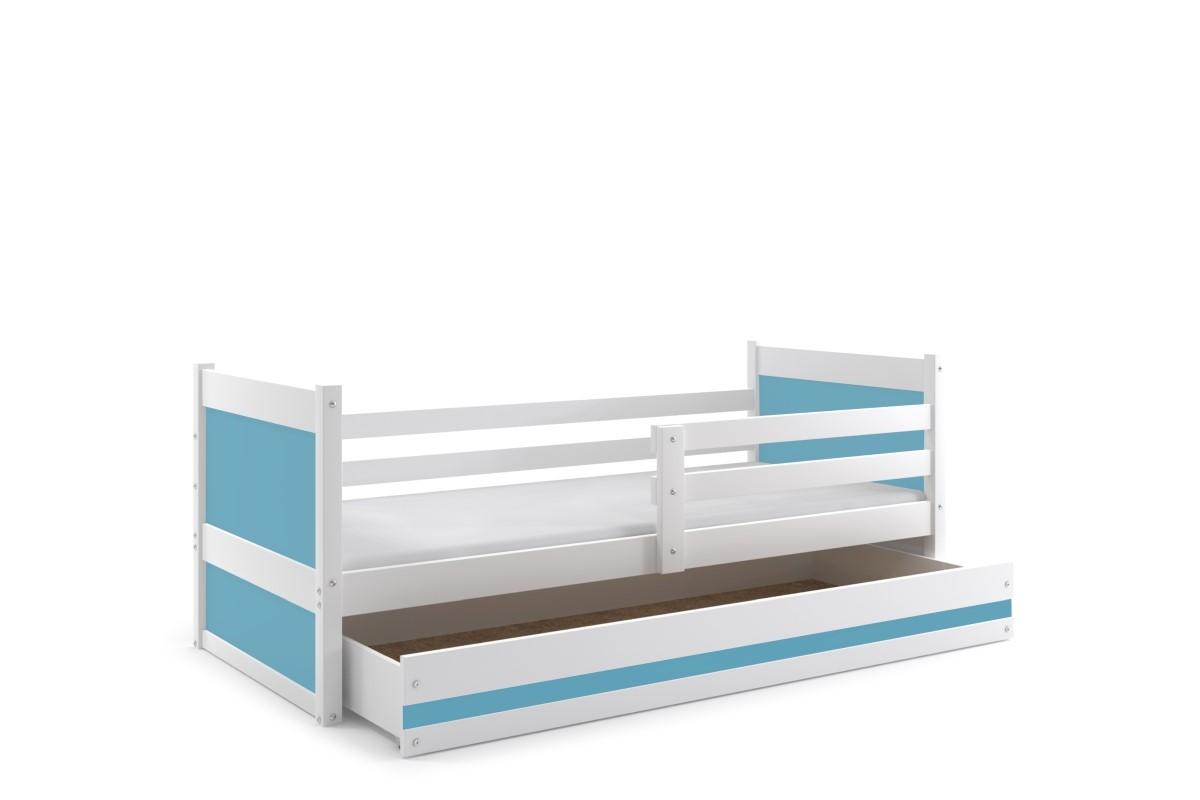 Jugendbett Joko mit Stauraumkasten in Weiß 80x190