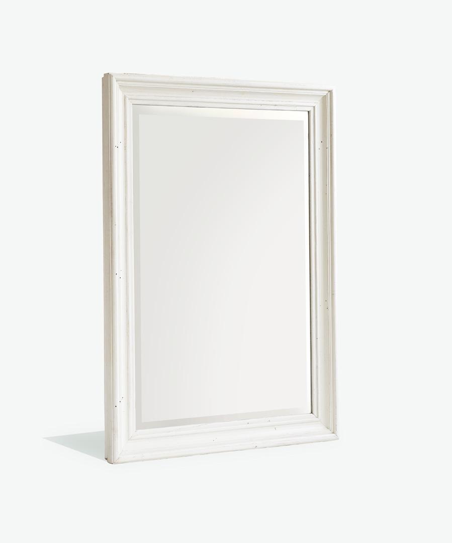 Wandspiegel Bode Landhausstil massiv in Weiß